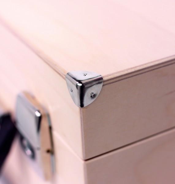 """Kleiner Moderationskoffer """"Kompakt"""" aus Holz - ohne Inhalt"""