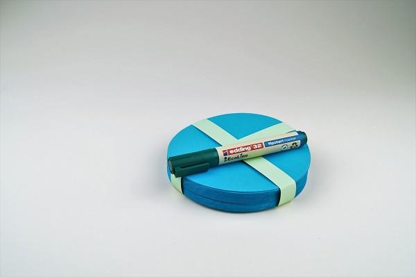 Runde Moderationskarten gemischt, verschiedene Größen, 100 Blatt