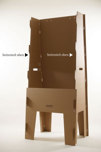 Seitenteil oben für Pinchart Pappe