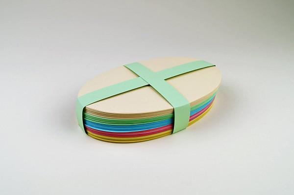 Ovale Moderationksarten gemischt, 180 Blatt